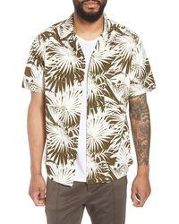 Vince Palm Leaf Cabana Woven Slim Fit Hawaiian Shirt - Multicolor