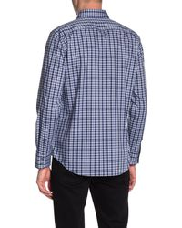 Zachary Prell Check Print Shirt - Blue