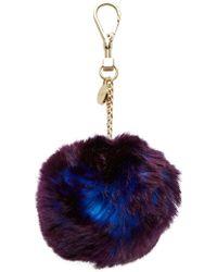 Ted Baker - Ren Plain Faux Fur Bag Charm - Lyst