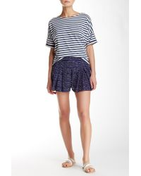 Olive & Oak - Printed Pleated Shorts - Lyst