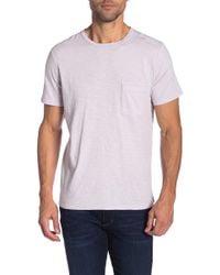 7 For All Mankind Crew Neck Pocket Short Sleeve T-shirt - White
