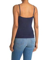 L'Agence Hayek Knit V-neck Cami - Blue