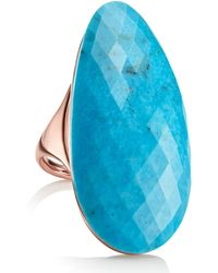 Monica Vinader 18k Rose Gold Vermeil Nura Turquoise Cocktail Ring - Blue