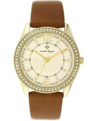 Nanette Nanette Lepore - Women's Quartz Faux Leather Strap Watch, 38mm - Lyst