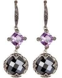 Judith Jack - Sterling Silver Swarovski Marcasite Stone Drop Earrings - Lyst