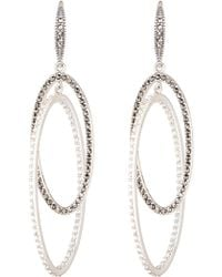 Judith Jack - Sterling Silver Linked Hoop Earrings - Lyst