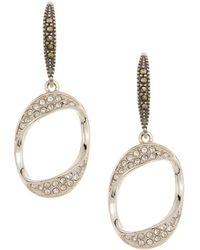 Judith Jack - Sterling Silver Glitter Links Loop Drop Earrings - Lyst