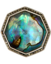 Judith Jack - Sterling Silver Abalone Ring - Size 7 - Lyst