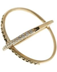 Judith Jack - 10k Gold Plated Sterling Silver Rings & Things Crossover Ring - Size 7 - Lyst