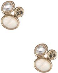 Judith Jack - Gold Plated Sterling Silver Swarovski Marcasite & Cz Stud Earrings - Lyst