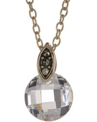 Judith Jack - 10k Gold Plated Sterling Silver Swarovski Marcasite & Champagne Cz Pendant Necklace - Lyst