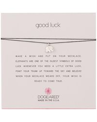 Dogeared - Good Luck Elephant Pendant Cord Necklace - Lyst