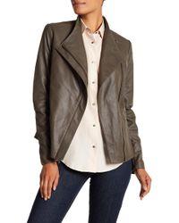 T Tahari - Kelly Leather Jacket - Lyst