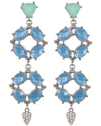 Jenny Packham | Prong Set Faceted Crystal Linear Drop Earrings | Lyst