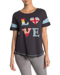 Pj Salvage Peace & Love Pajama T-shirt - Multicolor
