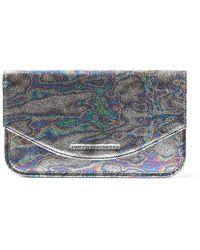 Aimee Kestenberg Miami Leather Flat Envelope Wallet - Blue