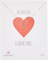 Dogeared - Heart Arrow Charm Necklace - Lyst