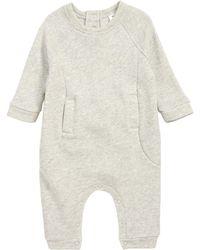 Stem Textured Romper (baby) - Gray
