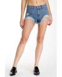 Siwy - Lillie Distressed Shorts - Lyst