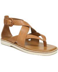 Vince Morris Strappy Flat Sandal - Brown