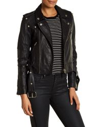 Doma Leather | Belted Leather Moto Jacket | Lyst