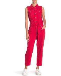 Levi's - Cropped Taper Jumpsuit - Lyst