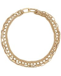 AllSaints Mixed Layered Chain Convertible Necklace - Metallic