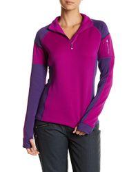 Obermeyer | Fleece Colorblock Zip Pullover | Lyst