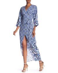 RACHEL Rachel Roy - Tile Print Woven Kimono Dress - Lyst