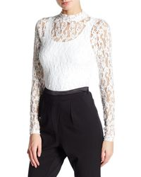 NÜ - Long Sleeve Lace Blouse - Lyst