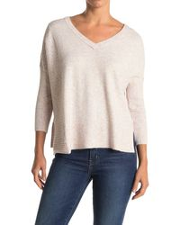 Wit & Wisdom Mixed Ribbed Knit V-neck Sweater - Multicolor
