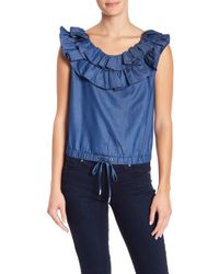 Fate - Ruffled Trim Top - Lyst