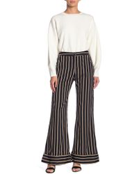 Lucca Couture - Isla Stripe Wide Leg Pants - Lyst