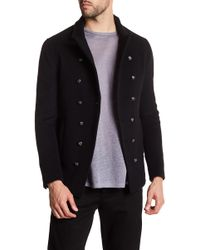 John Varvatos - Slim Fit Double Breasted Coat - Lyst