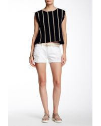 Articles of Society Madre Distressed Denim Short - White
