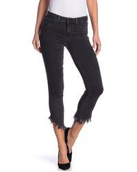 Level 99 Liza Frayed Hem Mid-rise Jeans - Blue