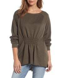 Gibson - Gathered Front Sweatshirt - Lyst