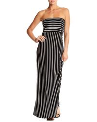 West Kei Strapless Stripe Maxi Dress - Black