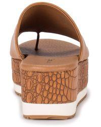 BareTraps Waverlie Wedge Slide Sandal - Brown