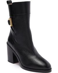 Stuart Weitzman Joplin Buckle Boot - Black