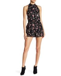 Lucy Paris | Nithia Embroidered Floral Romper | Lyst