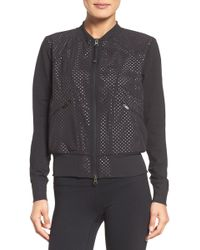Zella - To The Max Mesh Bomber - Lyst