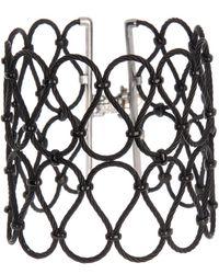 Alor Twisted Black Cable Lattice Cuff Bracelet