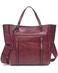 Botkier Alix Leather Tote Bag - Purple