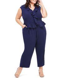 Maggy London - Ruffle Peplum Ankle Jumpsuit (plus Size) - Lyst