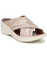 Bzees Dainty Woven Strap Wedge Sandal - Metallic