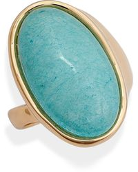 Nordstrom Jade Stone Cocktail Ring - Blue