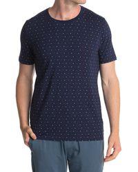 Tommy John Second Skin Micro Print Crew Neck T-shirt - Blue