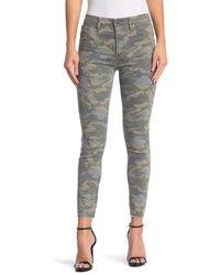 Hudson Jeans Barbara Skinny High Waist Camo Jeans - Grey