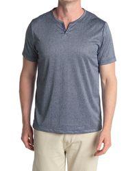 Con.struct Short Sleeve Knit Henley - Blue